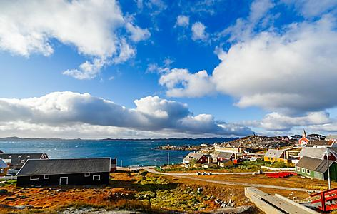 A panoramic view of Nuuk, Greenland