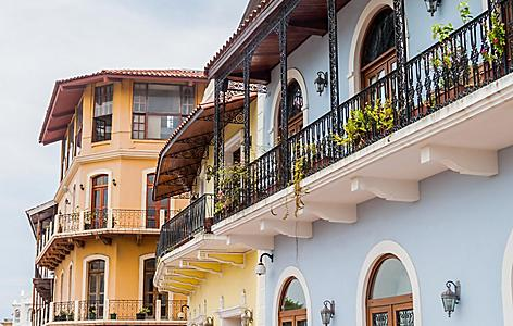 Historic buildings in Casco Viejo, Panama City