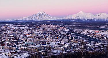 Russia Kamchatka Peninsula City Skyline