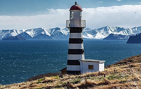 Russia Petropavlovsky Lighthouse Mayachny Cape Avacha Gulf