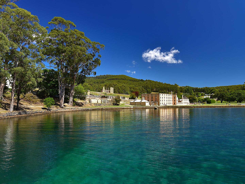Australia, Tasmania Port Arthur Harbor