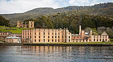 Historic Penitentiary Overlooking the Water in Australia