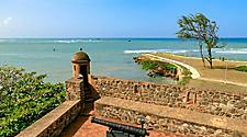 Dominican Republic Puerto Plata Fortaleza San Felipe Over the Seas