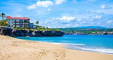 Dominican Republic Sosua Beach Sunny Day