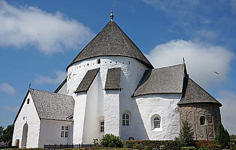 Osterlars Church), the Oldest of the Four Round Churches on Bornholm Island, Denmark