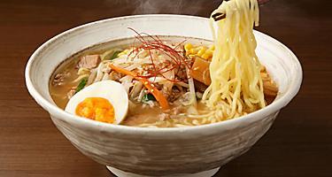 A bowl of Sapporo style Ramen soup