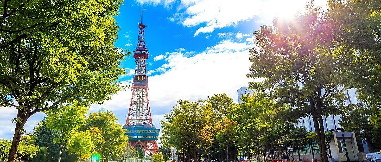 The Sapporo TV Tower in Sapporo, Japan