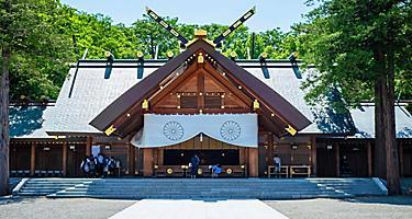 The Hokkaido Jingu Shrine in Japan