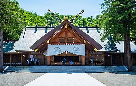 The Hokkaido Jingu Shrine in Japan