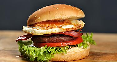 Local Japanese Burger with Fried Egg