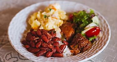 Trinidad and Tobago Sunday Lunch Plate