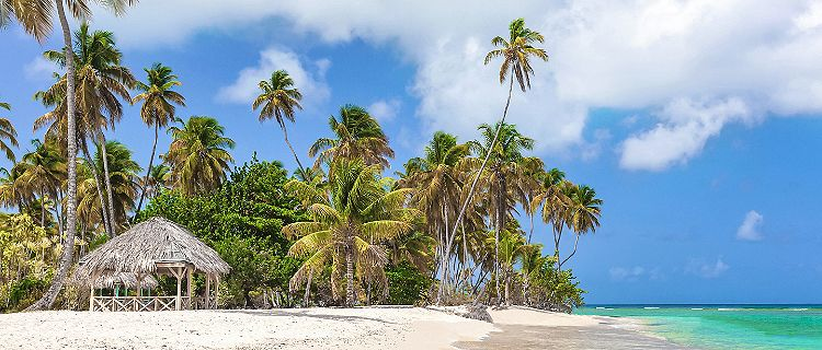 Pigeon Point Heritage Park nature reserve on the southwestern coast of Tobago.