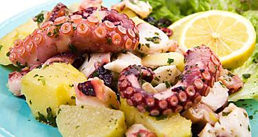 Octopus Salad with Potatoes Local Cuisine