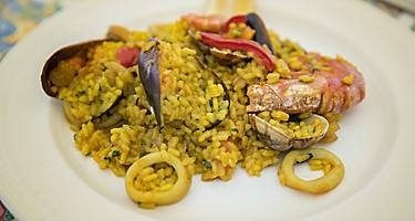 Spain Tarragona Paella Close Up of Local Cuisine