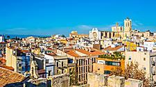 Spain Tarragona Aerial Cathedral Saint Mary