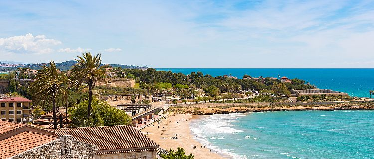 Spain Tarragona Coast Catalunya Sunny Day