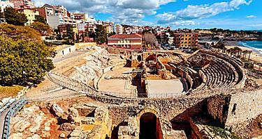 Spain Tarragona Ancient Roman Panoramic View