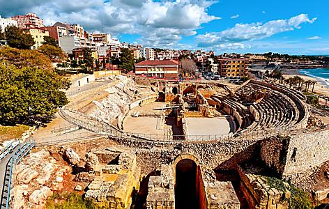 Spain Tarragona Ancient Roman Panoramic View