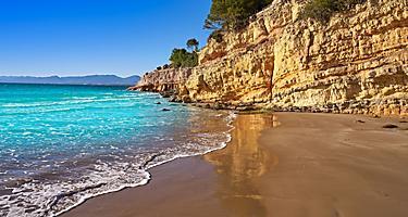 Spain Tarragona Salou Beach Cala Penya