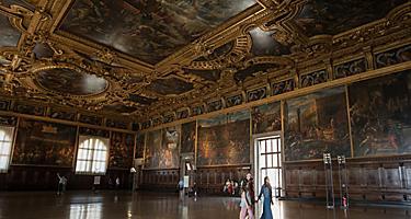Italy Venice Family Visiting Historic Palace