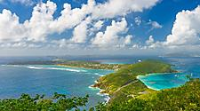 Virgin Gorda British Islands Aerial Green
