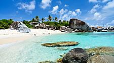 Virgin Gorda Tropical Beach White Sand