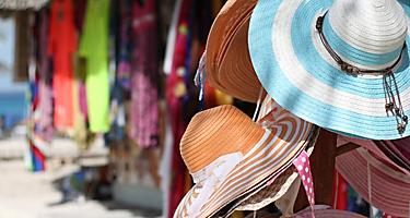 Virgin Gorda Local Shopping Straw Hats