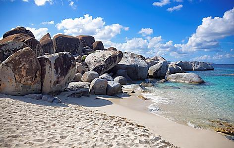 Virgin Gorda Granite Rocks at The Baths Beach