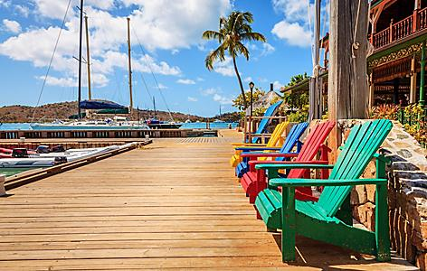Virgin Gorda Adirondack Chairs by the Inter-coastal