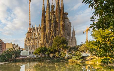 View of the Sagrada Familia - A guided tour of Barcelona on a shore excursion with Royal Caribbean.