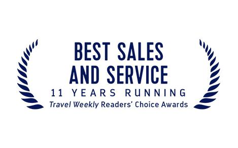 Travel Weekly's Best Sales and Service Award