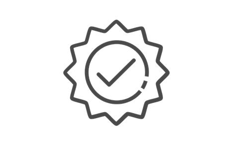 Dark Check Stamp Icon