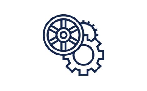 Gears Navy Icon