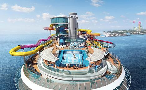 Navigator of the Seas Aerial Front View