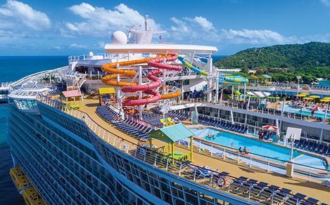 Oasis of the Seas Pool Deck Labadee Haiti