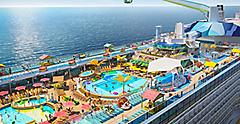 Odyssey of the Seas Aerial Pool Deck Close Up