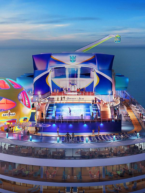 Odyssey of the Seas Aerial Aft