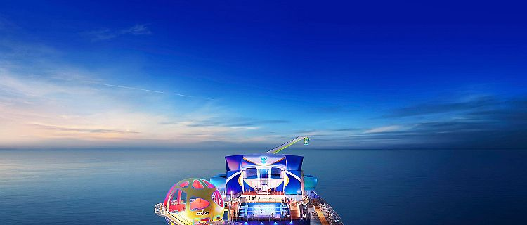 Odyssey of the Seas Aerial Skypad and Flowrider