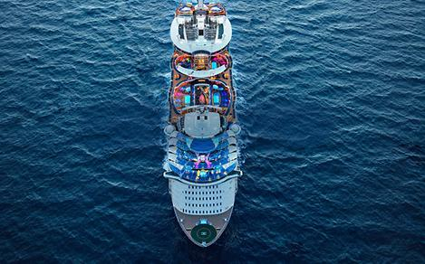 Aerial View of Symphony of the Seas