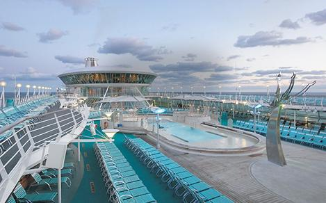 vision of the seas solarium pool deck