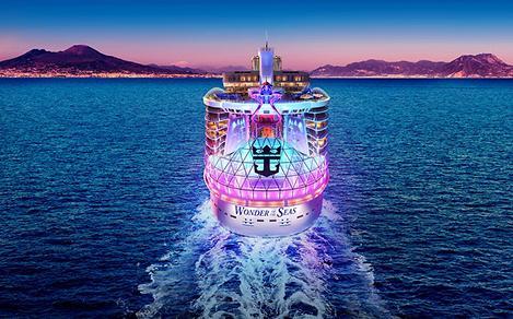 Wonder of the Seas Mount Vesuvius Sunset