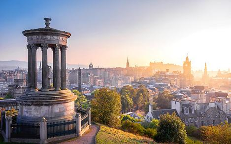 Dugald Stewart Monument Edinburgh Scotland