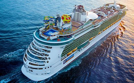 Aerial View of Independence of the Seas