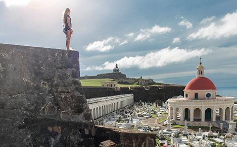 Woman Staring into the Horizon in San Juan Puerto Rico