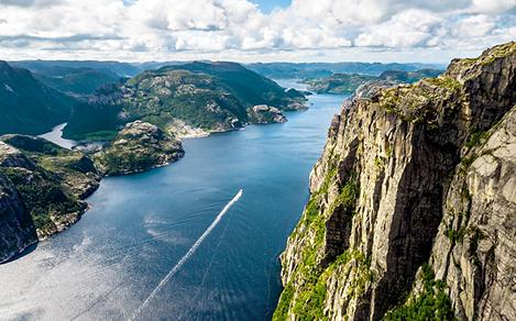 Stavanger Cliffs Panoramic View  Norway
