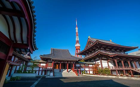 Tokyo Japan Zojo Temple