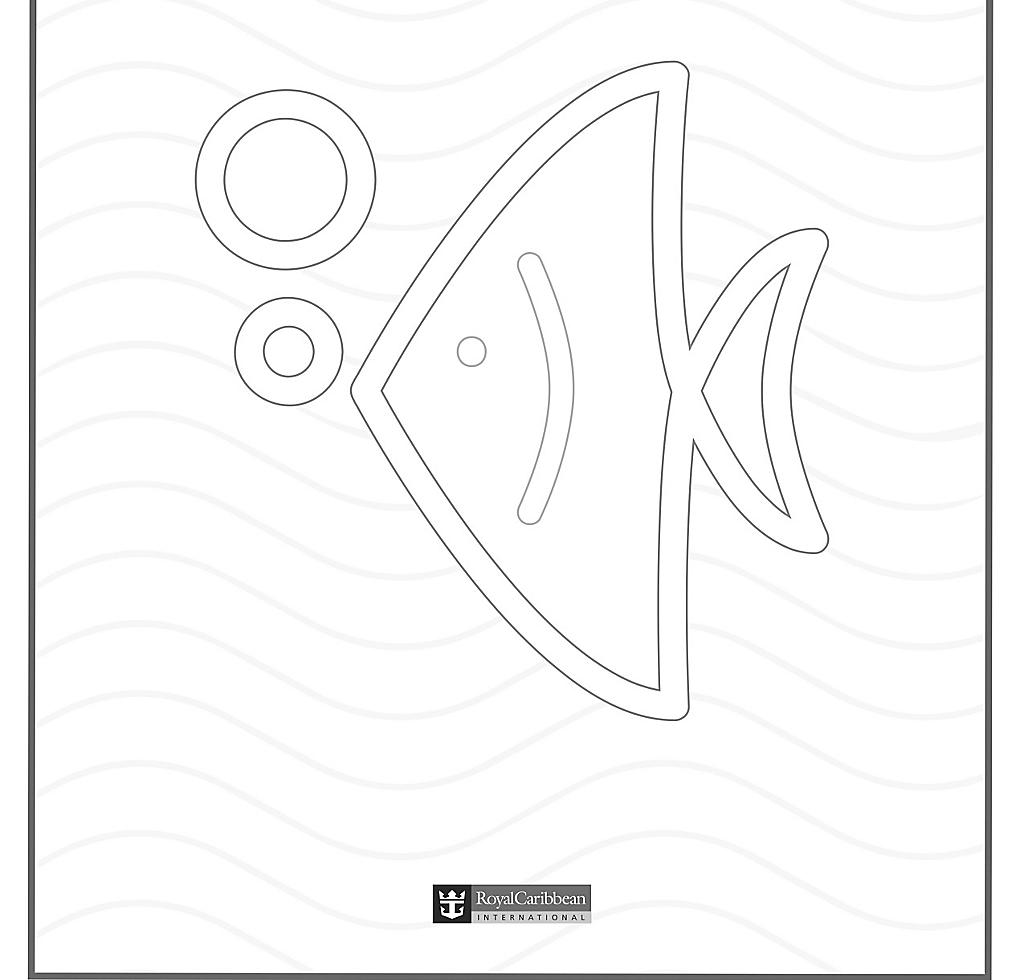 Kids Coloring Book Fish